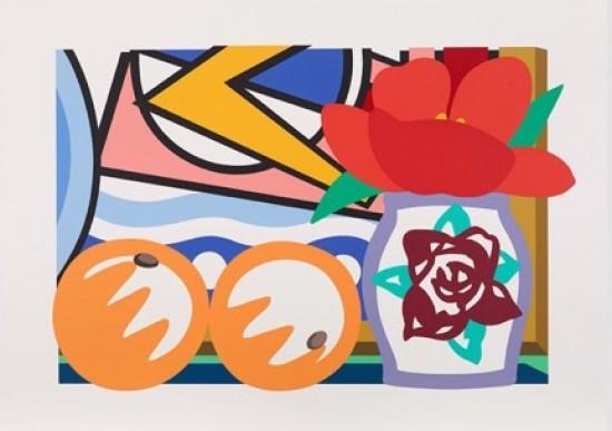 Tom Wesselmann - Still Life with Lichtenstein and Two Oranges, 1993