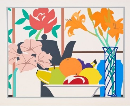 Tom Wesselmann - Still Life with Lilies, Petunias and Fruit, 1988