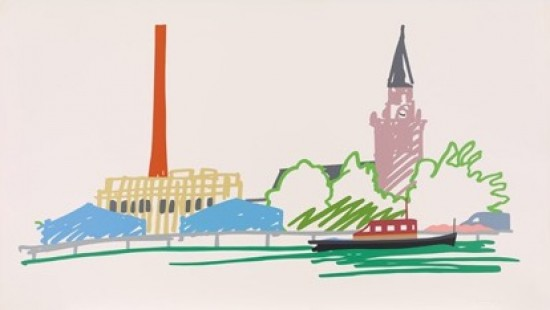 Tom Wesselmann - Thames Scene with Power Station, 1990