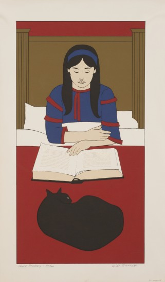Will Barnet - Prints - Child Reading, Red