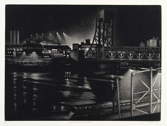 William Behnken - Harlem River Nocturne: Light and Steel