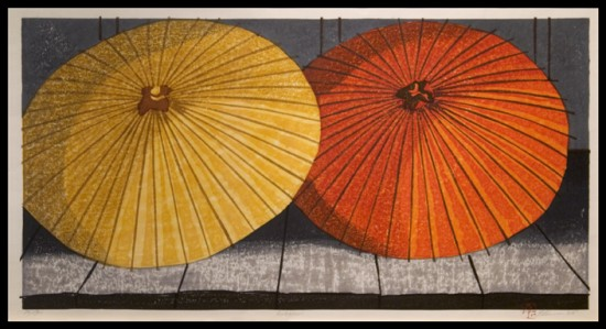Joshua Rome Prints - Woodblock Prints - Ameagari (After the Rain)