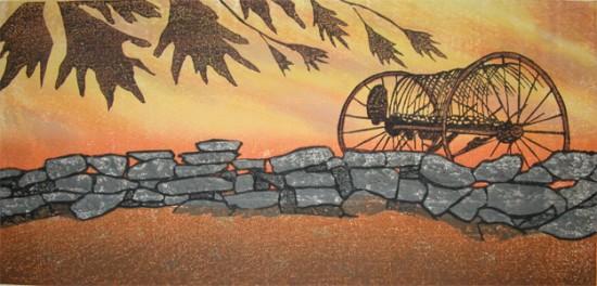 Joshua Rome Prints - Woodblock Prints - Autumns Breath