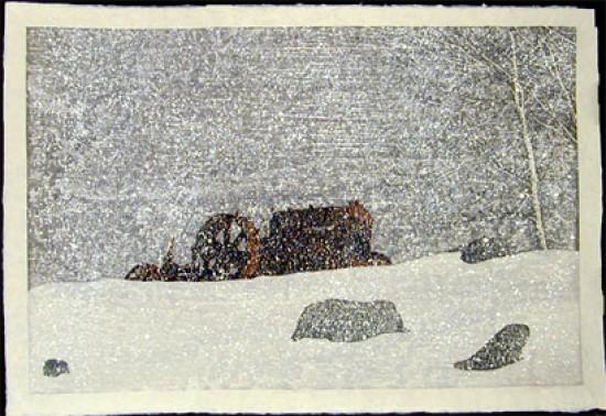Joshua Rome Prints - Woodblock Prints - End of the Road