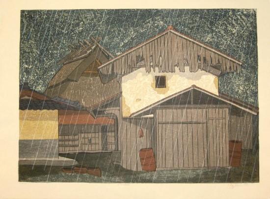 Joshua Rome Prints - Woodblock Prints - Kitsune Ame