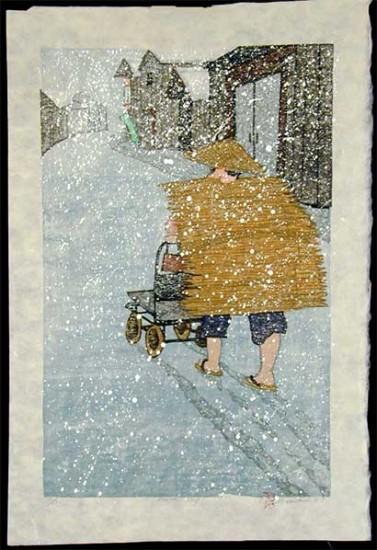 Joshua Rome Prints - Woodblock Prints - Market Day