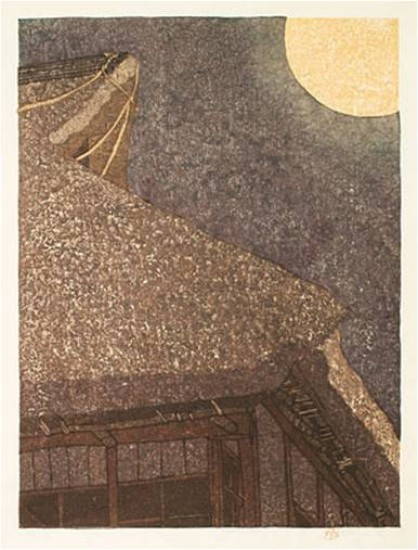 Joshua Rome Prints - Woodblock Prints - Moon Light