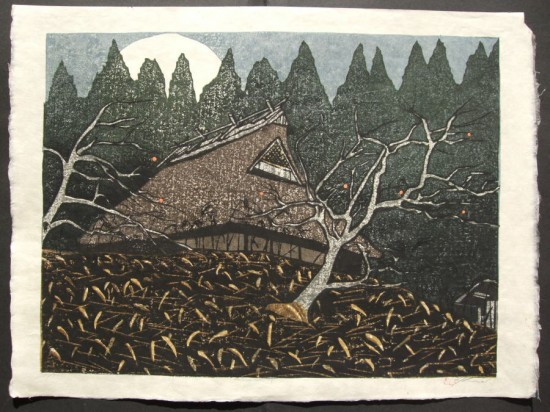 Joshua Rome Prints - Woodblock Prints - Moon Rising