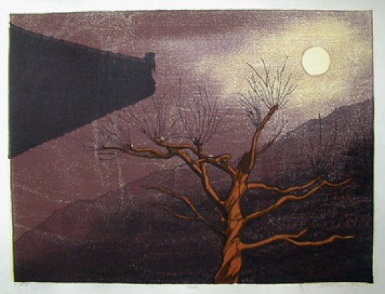 Joshua Rome Prints - Woodblock Prints - Tsuki (Moon)