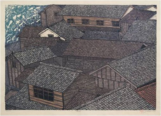 Joshua Rome Prints - Woodblock Prints - Nami (Waves)